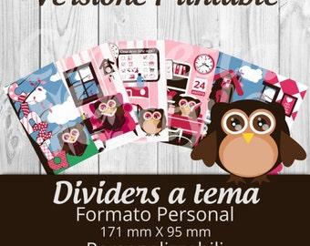 Dividers for filofax-Printable-owls