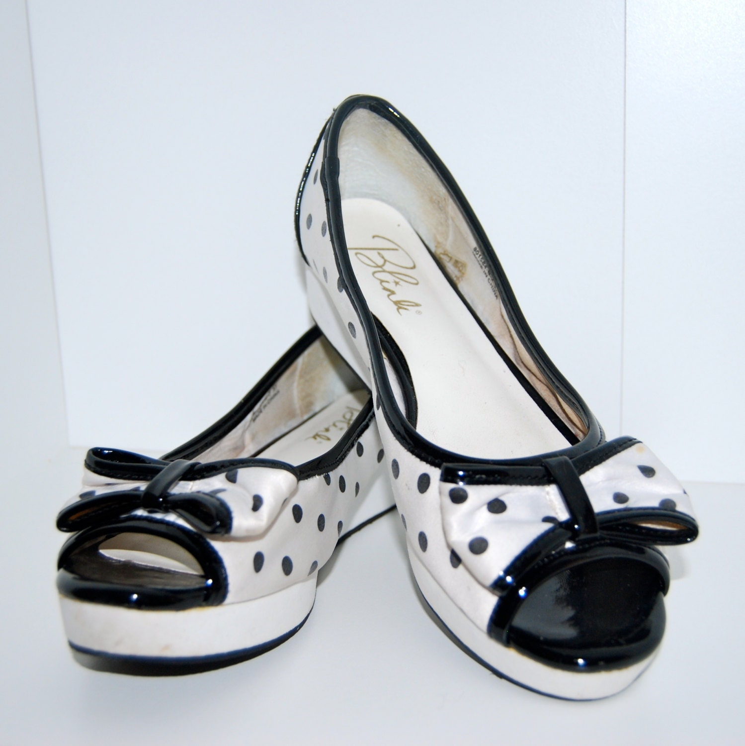 black and white polka dot shoes by dockedandhome on etsy