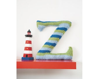 Knitted Letter Z Knitting Pattern (803509)