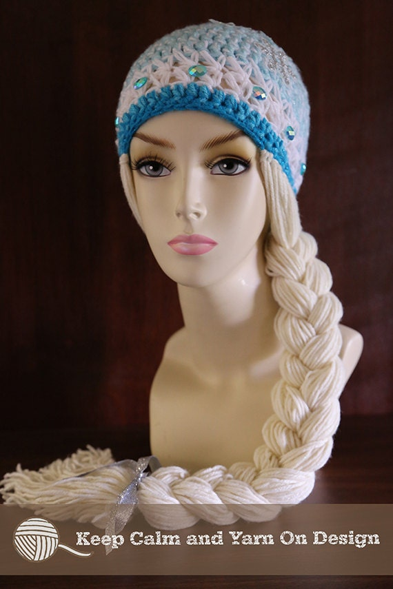 Crochet Hat Pattern For Elsa : Frozen Inspired Queen Elsa Crochet Hat