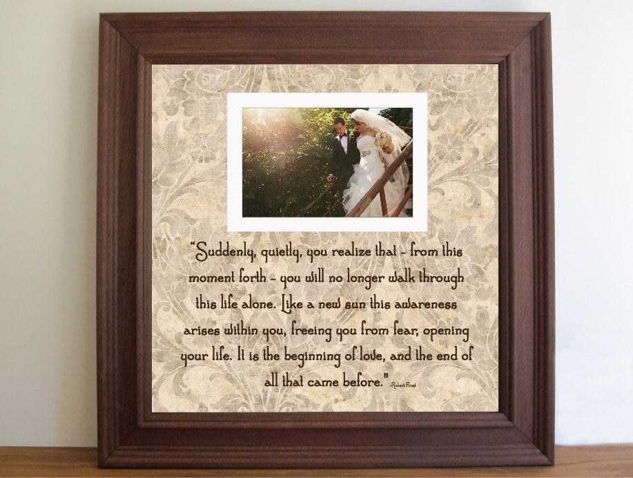 Customized Wedding Picture Frames : Wedding FrameWedding Picture Frame Unique Wedding by framedaeon