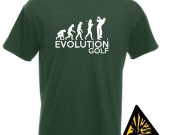 Evolution Of Man From Ape To Golf T-Shirt Joke Funny Golfer