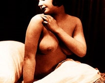 """Vintage Risque Nude Exotic - Bedroom Chamber #002 Canvas Art Poster 16"""" x 24"""""""