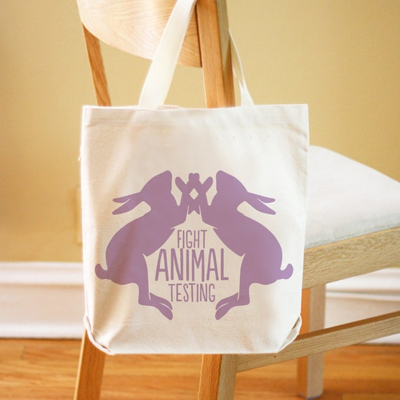 Fight Animal Testing Tote Bag