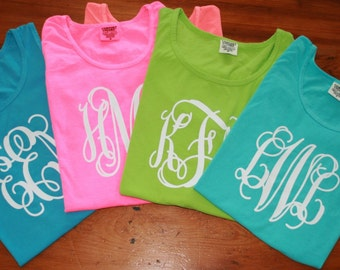 CLEARANCE ~ All Comfort Colors Monogrammed Tank Tops ~ Early Summer Blowout Sale