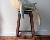 Whale Stuffed Animal* Big Handmade Plush Toy* Cotton jersey and faux fur