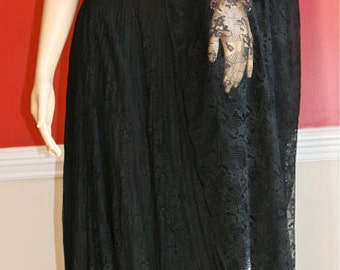 Kay Unger Vintage Lace Ballgown Skirt