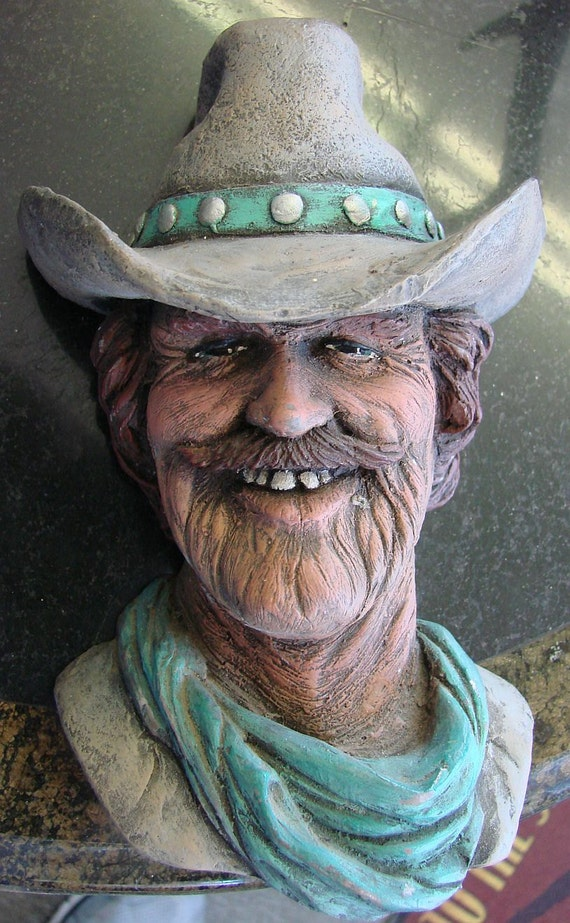 Vintage COWBOY WALL HEAD - Bosson Look A Like