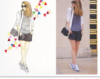 Custom portrait illustration, custom fashion illustration, custom watercolour illustration