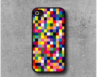 iPhone 4 / 4s Case Multicolored Pixels + Free Worldwide Delivery