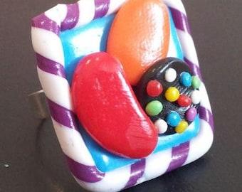Candy Crush Saga Inspired Ring Handmade