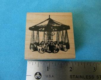 Club Scrap Rubber Stamp - Carnival/Fair Swing - Used