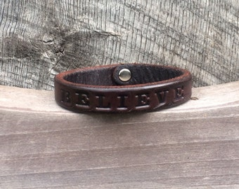 Handmade Personalized Leather Bracelet