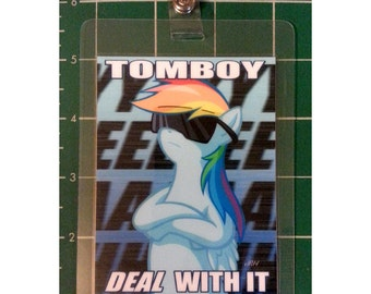 "My Little Pony 3x4"" Laminated Badge, Rainbow Dash"