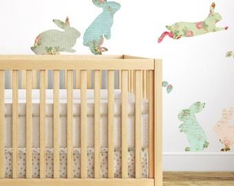 Fabric Rabbit Wall Stickers
