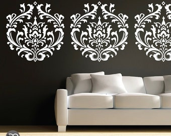 Wall decal CLASSIC DAMASK - Interior decor surface graphics by GraphicsMesh
