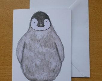 Baby Penguin Blank Greetings Card