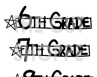 The Makin' the Grade 2 cut file includes phrases for 5th through 8th Grade, that can be used on your scrapbook & papercraft projects.