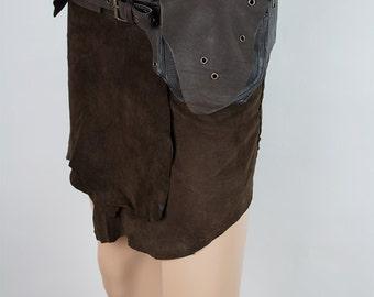 Festival leather pocket belt (utility belt) - Garuda (0017)
