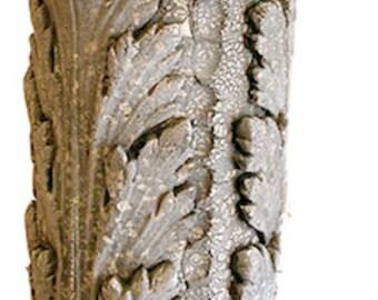 French Ceramic Acanthus Leaf Vase