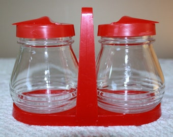 Cherry Red Androck Canada Condiment Set