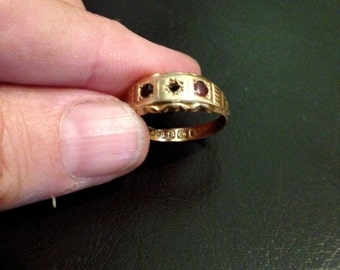 Antique Victorian Gold Ring 14k marked