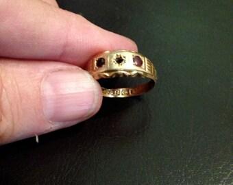 VICTORIAN WEDDING RING 14k.