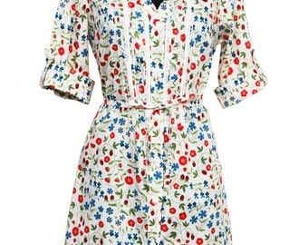 """Casual dress in Liberty of London """"Mirabelle'' Tana Lawn  fabric"""