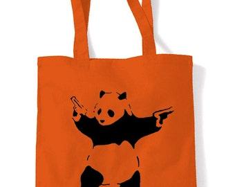 Banksy Panda Shopping Bag
