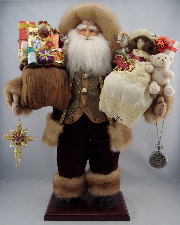 Regal santa claus doll tall