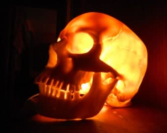 Skull Lamp Etsy