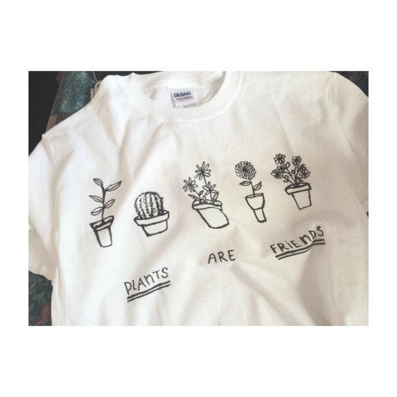 plants are friends tee screenprinted by notchill on etsy. Black Bedroom Furniture Sets. Home Design Ideas