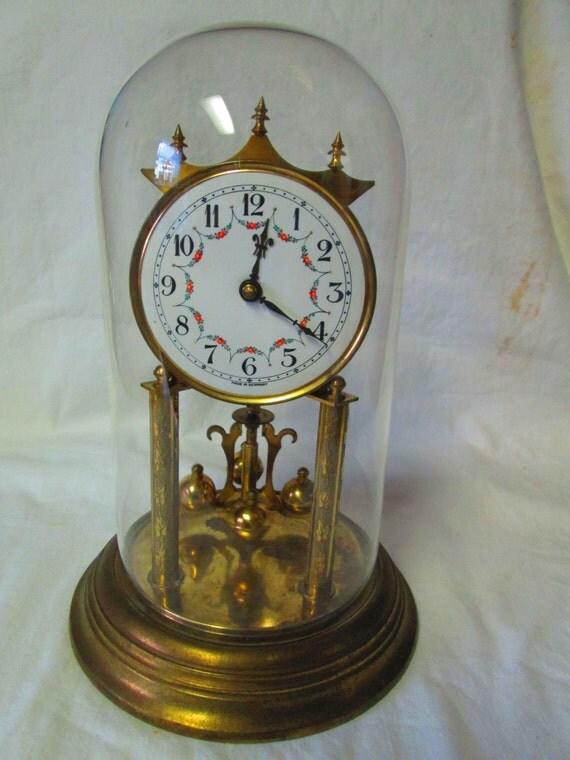 Beautiful Vintage Porcelain Face German Anniversary Clock