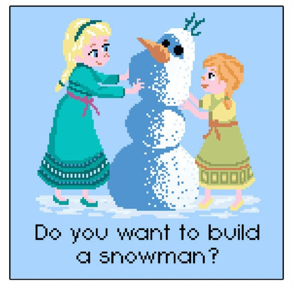Do you want to build a snowman cross stitch by for I want to make a snowman