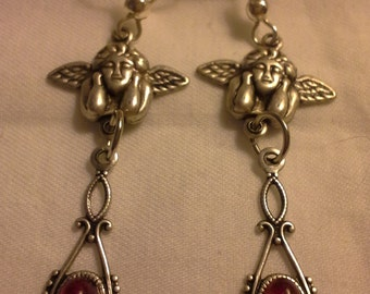 Cherubs and Dragon's Breath Earrings = E128