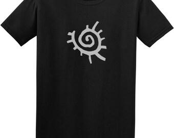 Sun t shirt - unique mens clothing, gift for him, black tshirt, native american art, black tribal tee, printed t shirt, funky t shirts ,