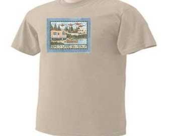 Home Is Where You Hook Up Camp Travel Trailers RV Camper Outdoor Hiking Canoing Camping T-Shirt