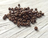 Toho seed  beads, glass seed beads, japanese glass beads  size 6 beige picasso