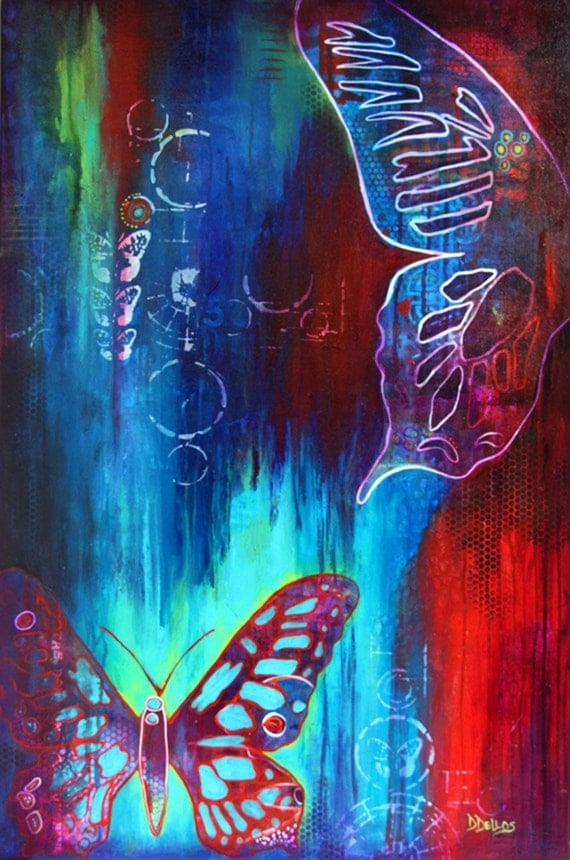 Items similar to Butterfly Wings, GICLEE PRINT on Fine Art ...