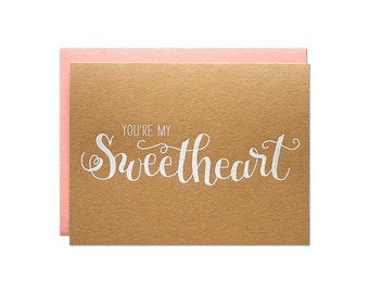 Sweetheart Engraved Card