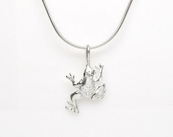 Sterling Silver Tree Frog Animal Pendant Charm Customize no. 2084