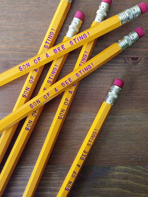Son of a Bee Sting Will Ferrell Inspired Humorous Yellow Pencil 6 Pack - fun gift idea, made in the usa