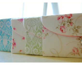 Set 3, 4 5, 6, Bridesmaid Gift Set, Bridesmaid Clutch Set, Wedding Party Favor, Shabby Chic