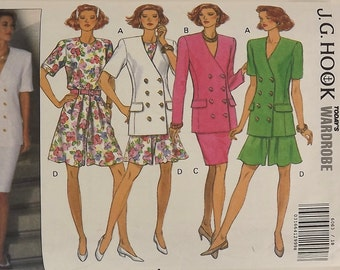 Vintage Sewing Pattern, Misses Skirt, Top, Shorts, Size 18-20-22