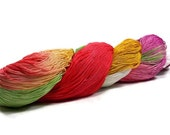 150 Yards Hand Dyed Cotton Crochet Thread Size 10 3 Ply White Dark Coral Green Yellow Red Violet Fine Cotton Yarn