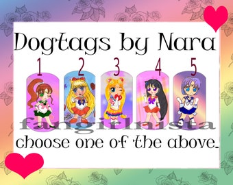 Sailor Moon  Dogtag  Necklaces