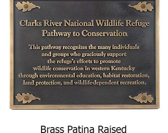 Nature Conservancy Plaque 20x15 Made in the USA