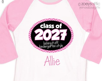 Back to school shirt - class of 2027 or any year personalized girl back to school RAGLAN style Tshirt