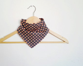 Grey Polka Dot Bandana Bib for Baby