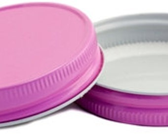 6 Colored Mason Jar Lids - 12 Different Color Options